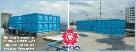 Tangki Air Sistem Panel / Kotak (FRP Panel Water Tank)